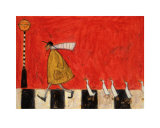 Crossing with Ducks Stampe di Sam Toft