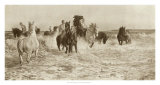 Horses Bathing Giclee Print by Lucy Elizabeth Kemp-Welch