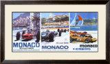 65, 66, 70 Monaco Grand Prix 3 in 1 Poster Framed Giclee Print