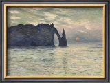 The Cliff, Etretat, Sunset, 1883 Pôsters por Claude Monet