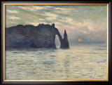 The Cliff, Etretat, Sunset, 1883 Posters por Claude Monet