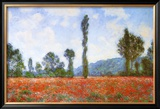Campo de papoulas Poster por Claude Monet