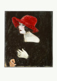 Portrait Mrs. Martha Dix, c.1923 Samlarprint av Otto Dix
