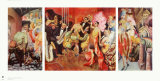 Metropolis (Triptych) Sammlerdrucke von Otto Dix