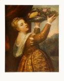 The Artists Daughter Lavinia Keräilyvedos tekijänä  Titian (Tiziano Vecelli)