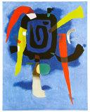 Bluxao V, c.1955 Plakater af Willi Baumeister