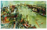 London Towerbridge Samletrykk av Oskar Kokoschka