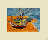 Boats Collectable Print by Vincent van Gogh