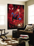 Spider-Man, Scorpion, Prowler, Vulture, Electro and Green Goblin in the City Wall Mural
