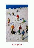 The Practice Slope Plakater av Alfons Walde