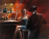Evening in the Bar II Plakat av Willem Haenraets