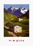 Spring in Tyrol Poster av Alfons Walde