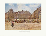 In the Market Prints by Rudolf Alt