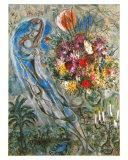 Les Amoureux en Gris, c.1960 Posters av Marc Chagall
