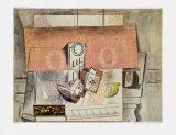Still Life with Red Carpet Impressão colecionável por Pablo Picasso