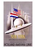ニューヨーク/ホーランド・アメリカ・ライン ジクレープリント : ウィレム・テン・ブローク