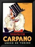 Vermuth Carpano, Unico de Torino Innrammet Giclee-trykk av Achille Luciano Mauzan