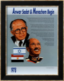 Anwar Sadat & Menachem Begin Plakater