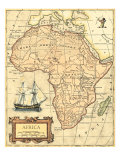 Africa Map Kunstdrucke