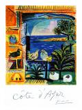 Reclameposter Côte d'Azur Gicléedruk van Pablo Picasso