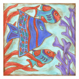 Pop Fish IV Metal Print by Nancy Slocum