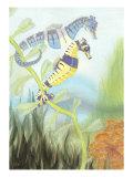 Seahorse Serenade III Kunstdrucke von Charles Swinford
