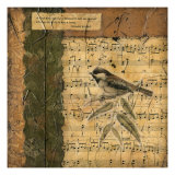 Bird Melody I Metal Print by Nancy Slocum