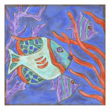 Pop Fish II Metal Print by Nancy Slocum