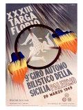XXXIII Targa Florio Reproduction procédé giclée par  Lalia