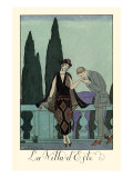 La Villa d'Este Posters par Georges Barbier