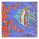 Pop Fish III Metal Print by Nancy Slocum