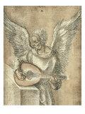 Angel with Lute Poster von Albrecht Dürer