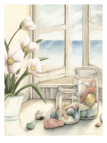 Small Beach House View I Poster by Megan Meagher