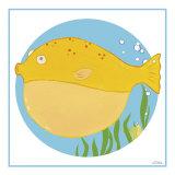 Billy the Blowfish Poster par Erica J. Vess