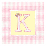 Girl Letter K Posters by  Vision Studio