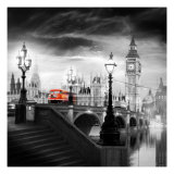 London Bus III Poster van Jurek Nems