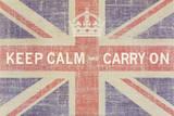 Keep Calm and Carry On (Union Jack) Kunstdrucke von Ben James