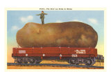 Giant Potato on Rail Car, Maine Posters