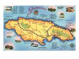 Map of Jamaica Arte