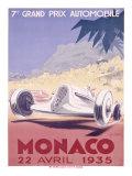 Monaco Grand Prix, 1935 Gicléedruk van Geo Ham