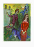 The Artist and His Model Samlertryk af Marc Chagall