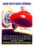 Monaco Grand Prix, 1955 Reproduction procédé giclée par J. Ramel