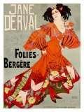 Jane Derval, Folies Bergere Giclee Print by Georges de Feure