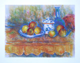 Still Life with Apples Lámina coleccionable por Paul Cézanne