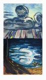 Sea and Clouds Lámina coleccionable por Max Beckmann