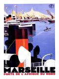 マルセイユ/アフリカの北の港 ジクレープリント : ロジェ・ブロデール