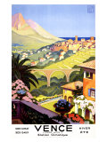 Vence Giclee Print by Roger Broders