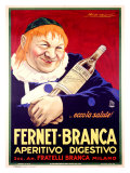 Fernet-Branca Gicléetryck av Achille Luciano Mauzan