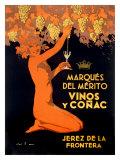 Marques Vinos y Cognac Giclee Print