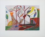 Landscape with Trees Collectable Print by Werner Gilles